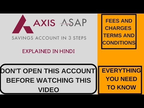 Axis Bank ASAP A/c - Fees and Charges that u need to know !!! (Hindi Video) } Techno Whizz