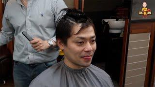 SUB)한국 미용실에서 손흥민 머리스타일에 도전한 일본인 반응! Korean Hair Salon Experience 韓国の美容院で髪の毛を切ってもらった!