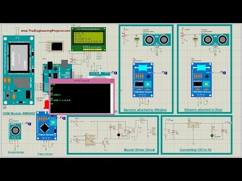 GSM Based Home Security System Using Arduino