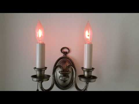 Flicker flame lights beautiful addition to vintage wall sconces
