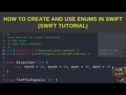 Swift Tutorials:-  How to create and use enums in swift