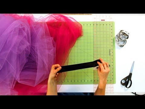 How to Prep the Ribbon for No-Sew Tutu | No-Sew Crafts