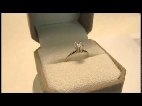 .5 carat diamond ring with white gold setting and GIA certificate. 1