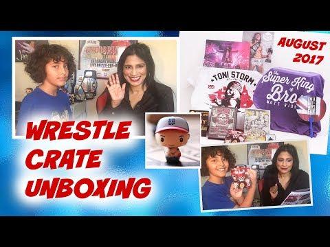 Wrestle Crate With Ninja Mum and Ninja Boy : August 2017