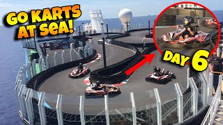 GO KARTS IN THE MIDDLE OF THE OCEAN!!! Racing to Canada on the Norwegian Bliss! Cruise Week Day 6