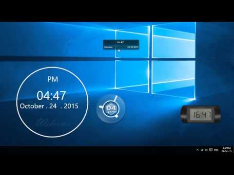 How to show multiple clocks on multiple desktops in Windows 10