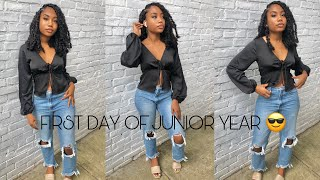 GRWM// SOCIAL DISTANCING FIRST DAY OF JUNIOR YEAR
