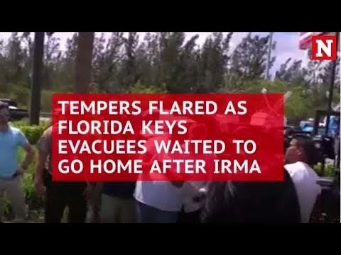 Tempers flare as Florida Keys evacuees wait to go home after Irma