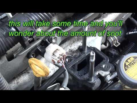 Toyota Avensis T25 2.2 Diesel cleaning the agr / egr valve