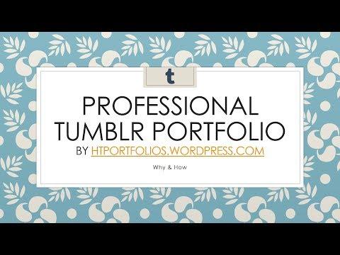 How to Create a Professional Online Portfolio Using Tumblr | How To Portfolios
