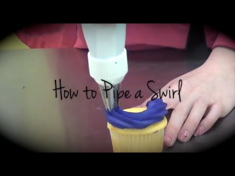 How to Pipe a Swirl on a Cupcake