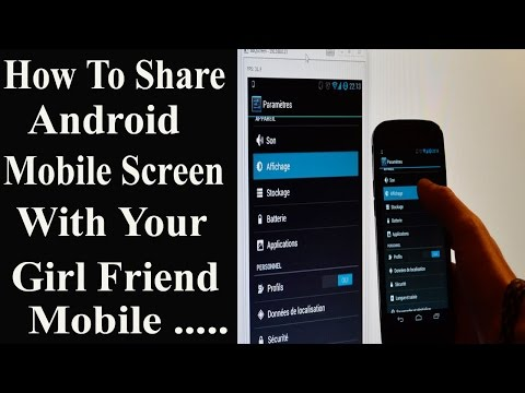 How to Share Android  Mobile Screen With Your Girl Friend Mobile | Show Mobile Screen