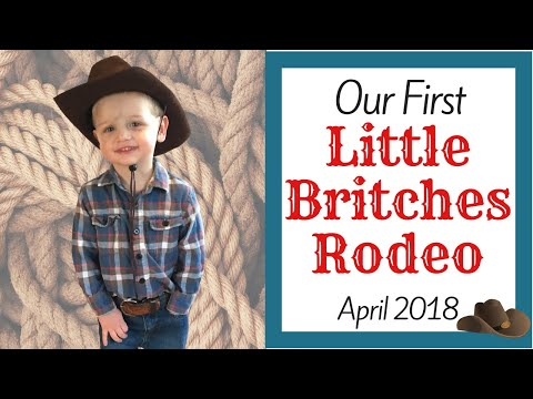 Our First Little Britches Rodeo - NLBRA of MI - Trail Hand Division Mutton Busting - April 2018
