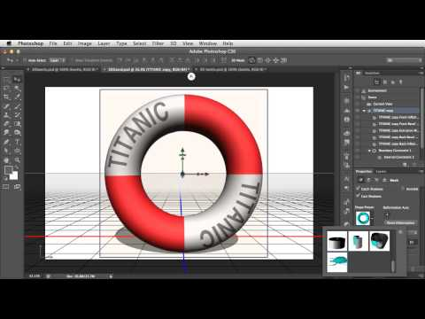 Create 3D Objects by Inflating 2D Photographs in Photoshop CS6 Extended