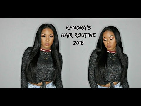 Kendra's Straight Hair Routine 2018| PRODUCTS, TIPS, & TRICKS