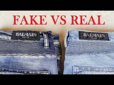 HOW TO SPOT Real vs Fake Balmain Jeans | Authentic vs Replica Balmain Guide