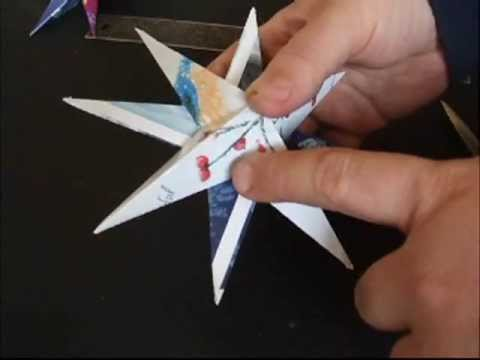 Recycled Christmas Card Star Ornaments