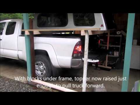 How to remove camper topper by yourself