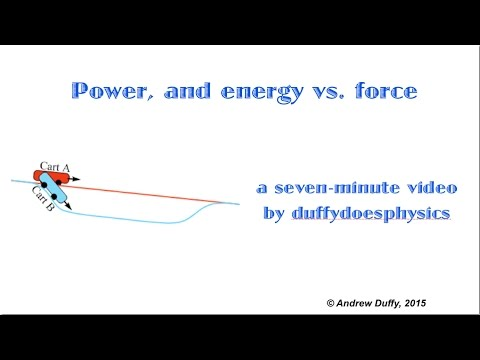 Power, and energy versus force