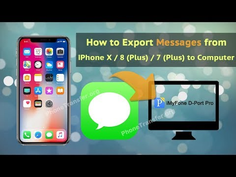 How to Export Messages from iPhone X / 8 (Plus) / 7 (Plus) to Computer