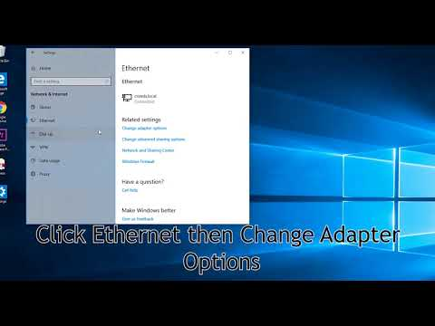 How to assign a static IP address in Windows 10