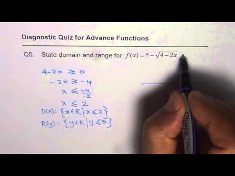 Q5 Domain and Range for Square Root Function
