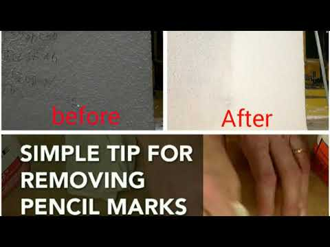 Pencil marks removing of a wall