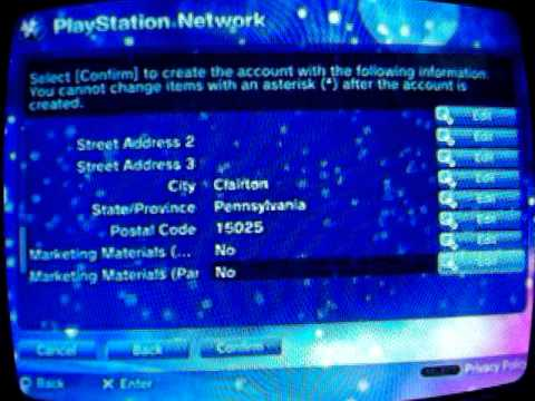 how to make a playstation network account