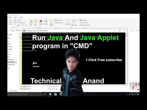 how to run java and java applet program in CMD|Using notepad| windows 10/8/7