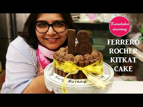 Ferrero Rocher Kitkat Cake: Cake Decorating Tutorial