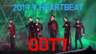 [4K 직캠] V HEARTBEAT 2019 GOT7 갓세븐 - 니가 부르는 나의 이름 + Crash & Burn by 사나오효오효