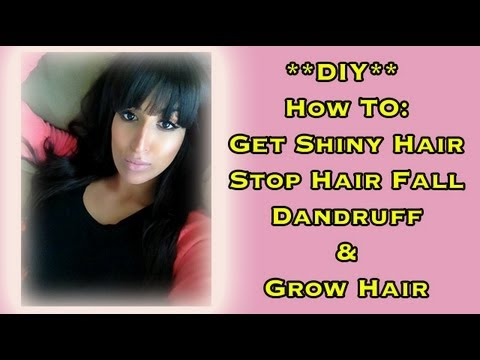 DIY: How to Reduce Hair Fall Naturally, Grow Hair and Get Shiny Hair