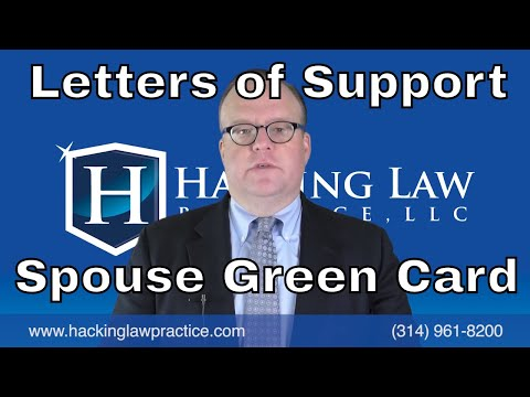 Writing Letters of Support for a Spouse Based Green Card Case