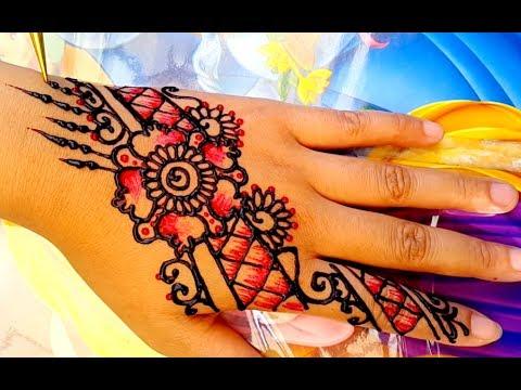 ᴴᴰ DIY Henna mehndi mix pink colour