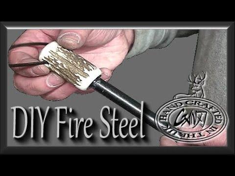 DEER ANTLER FIRE STEEL / FERROUS ROD