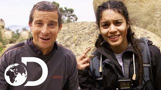 Vanessa Hudgens Kills and Eats A Rattlesnake! | Running Wild With Bear Grylls