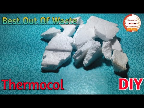 Best Out Of Waste|How To Reuse Old Thermocol Pieces|How To Reuse Thermocol|Experts Of Creativity|