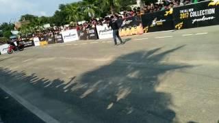 Bajaj pulsar stunt mania 2017 shahjahanpur, city park