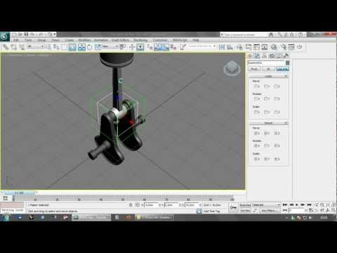 3ds Max Easy Piston Crank Animation with Link Constraint