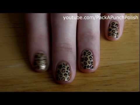 How To Leopard Print Nail Art Tutorial