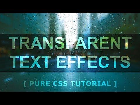 CSS Transparent Text Effects - CSS blend mode Text Effects - Glass Text Effects Tutorial