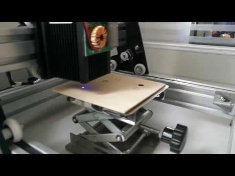Wood Cutting Demonstration - AS-5 Hobby 10W Laser Engraver