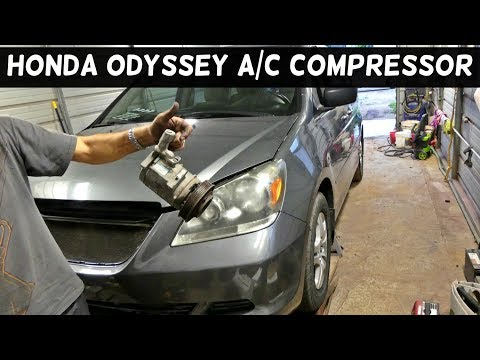 HONDA ODYSSEY A/C COMPRESSOR REMOVAL REPLACEMENT AIR CONDITIONER