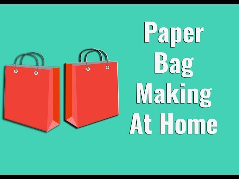 How to make Paper bag at home step by step tutorial || Hand made paper art || 3d paper art for kids
