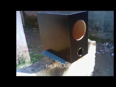 DIY 6 inch slim subwoofer box