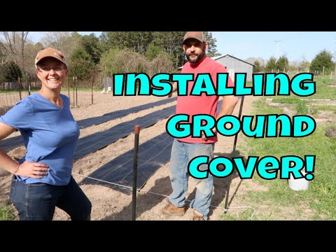 Starting On The Garden...Installing Ground Cover Fabric!