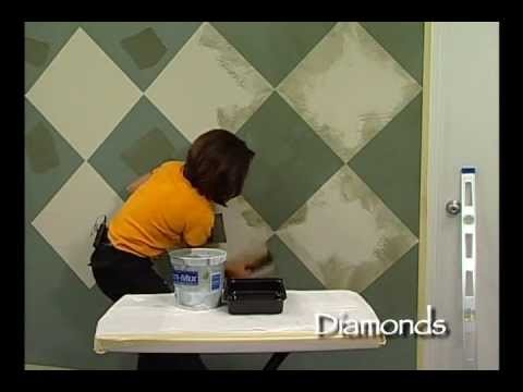How-To Faux Painting - Diamond Technique by The Woolie (How To Paint Walls) #FauxPainting