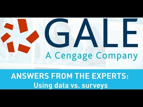 Answers from the Experts: Using Data vs. Surveys