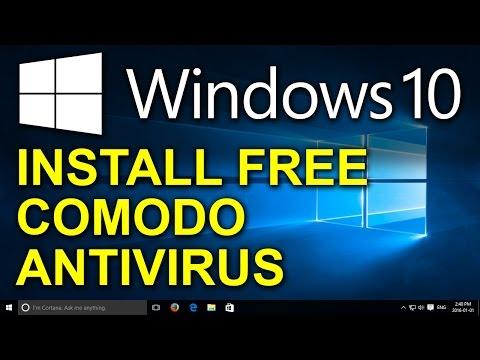 Windows 10 - Free Comodo Antivirus - How to Install Free Antivirus for Windows 10