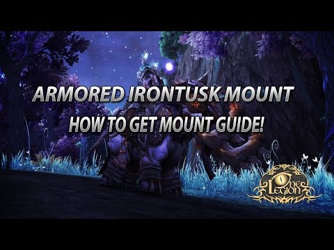 How To Get The Armored Irontusk Mount Guide - Sha'tari Defense Reputation Guide!